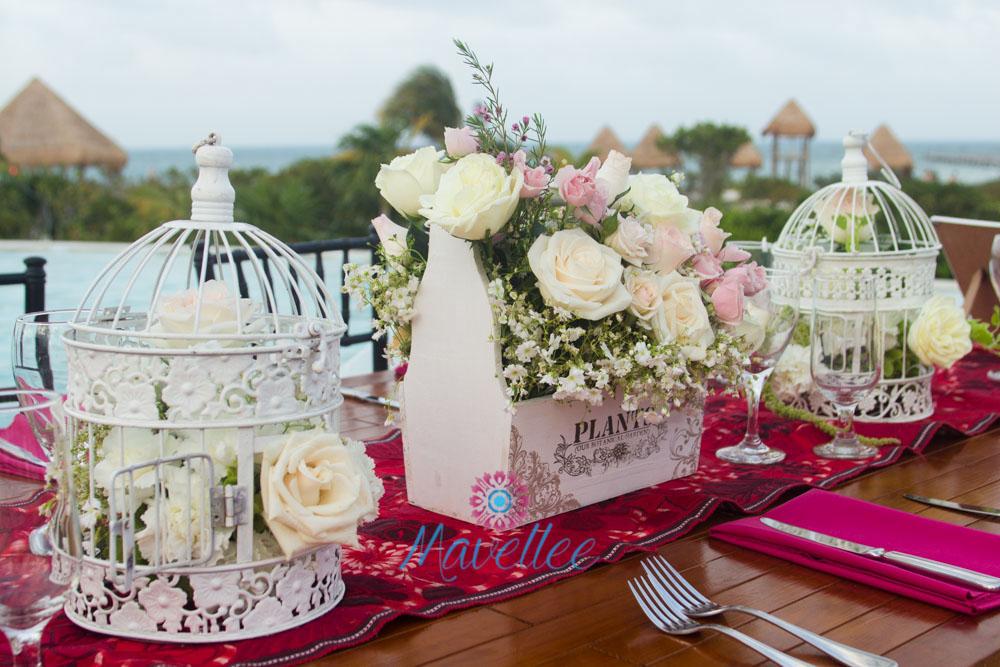 Centros de mesa-Cancún-Riviera-bodas-eventos