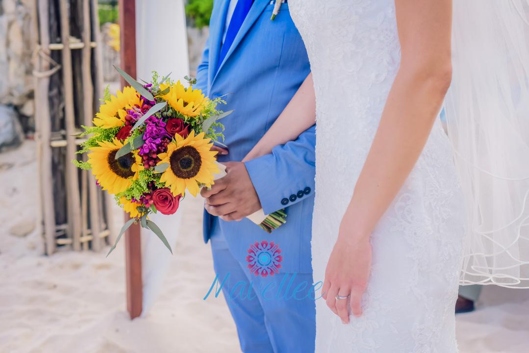Únicos Ramos de novia para una boda en la playa.